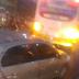 Colisão moto x ônibus na João Medeiros Filho próximo ao Atacadão