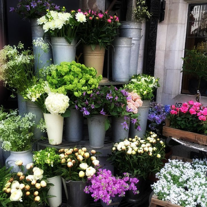 Flower stand at Liberty London