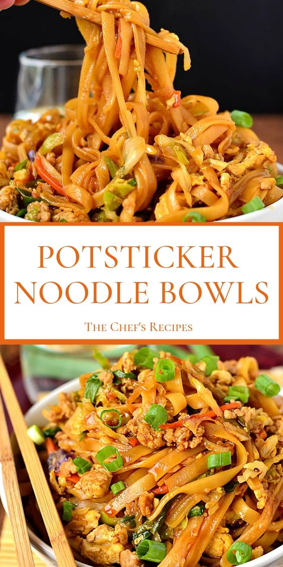 POTSTICKER NOODLE BOWLS #recipes #chineserecipes #food #foodporn #healthy #yummy #instafood #foodie #delicious #dinner #breakfast #dessert #lunch #vegan #cake #eatclean #homemade #diet #healthyfood #cleaneating #foodstagram