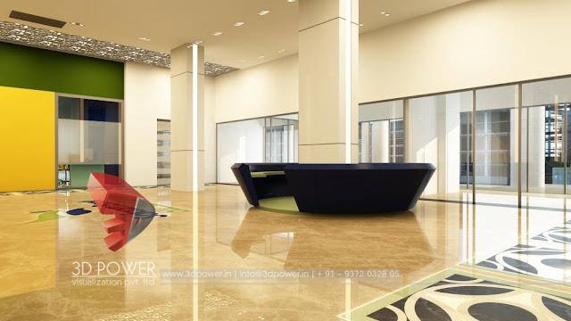 3d Bank Interior Design Rendering Service Provider Pune