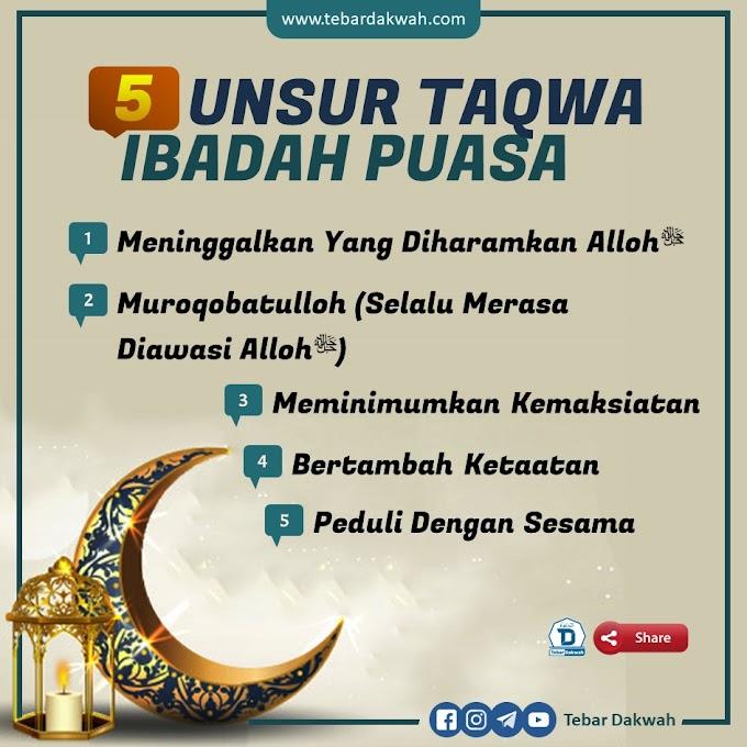 5 UNSUR TAQWA IBADAH PUASA