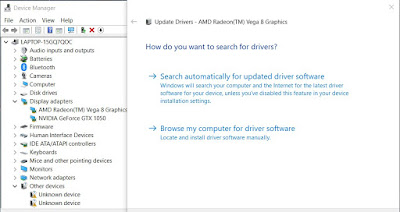 cara update driver melalui device manager