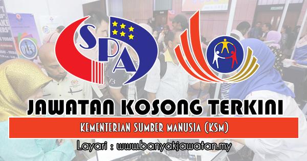 Jawatan Kosong 2018 di Kementerian Sumber Manusia (KSM)