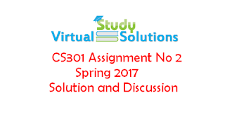 CS301 Assignment No 2 Spring 2017 Solution and Discussion