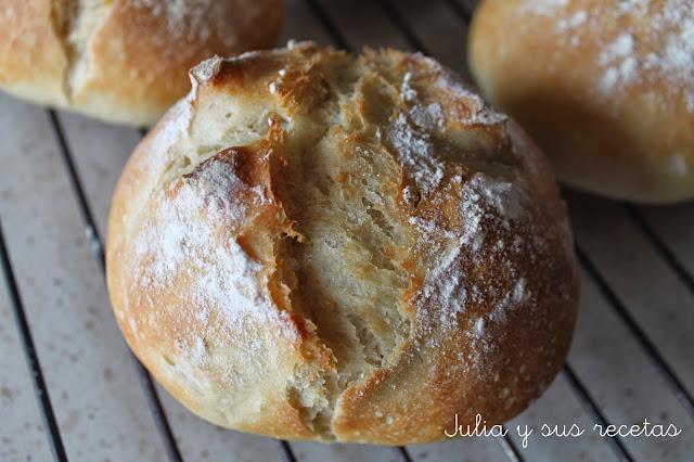Bollitos de pan sin amasado. Julia y sus recetas