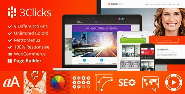 3Click Responsive Multi-Purpose WordPress Theme