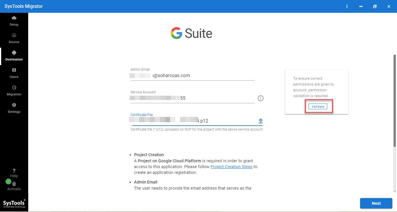 g suite credentials