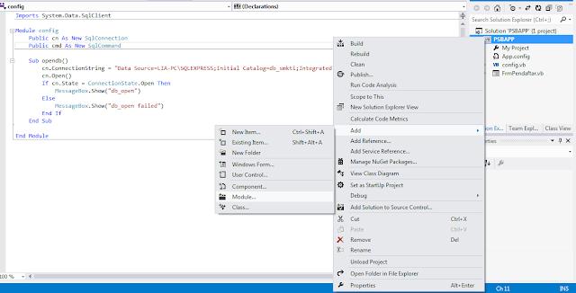 config1 - Membua Aplikasi Registrasi Siswa Gres Dengan Visual Studio 2012