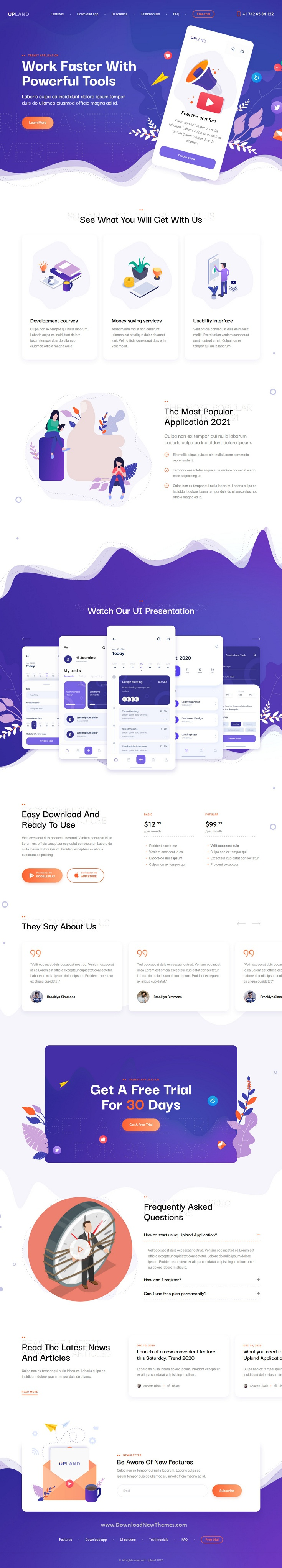 Mobile App HTML Template