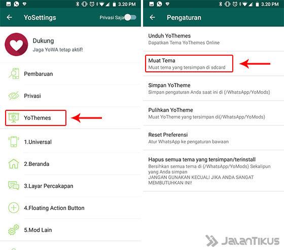 Merubah Tampilan Whatsapp Android jadi Iphone dengan Aplikasi WhatsappGb Mod