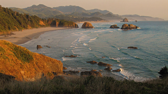 Cannon Beach at sunset...