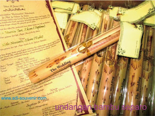 undangan bambu separo isi undangan
