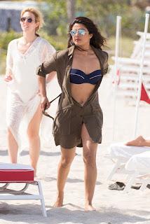 Priyanka Chopra in Blue Bikini