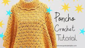Poncho a crochet con cuello alto | Tutorial completo