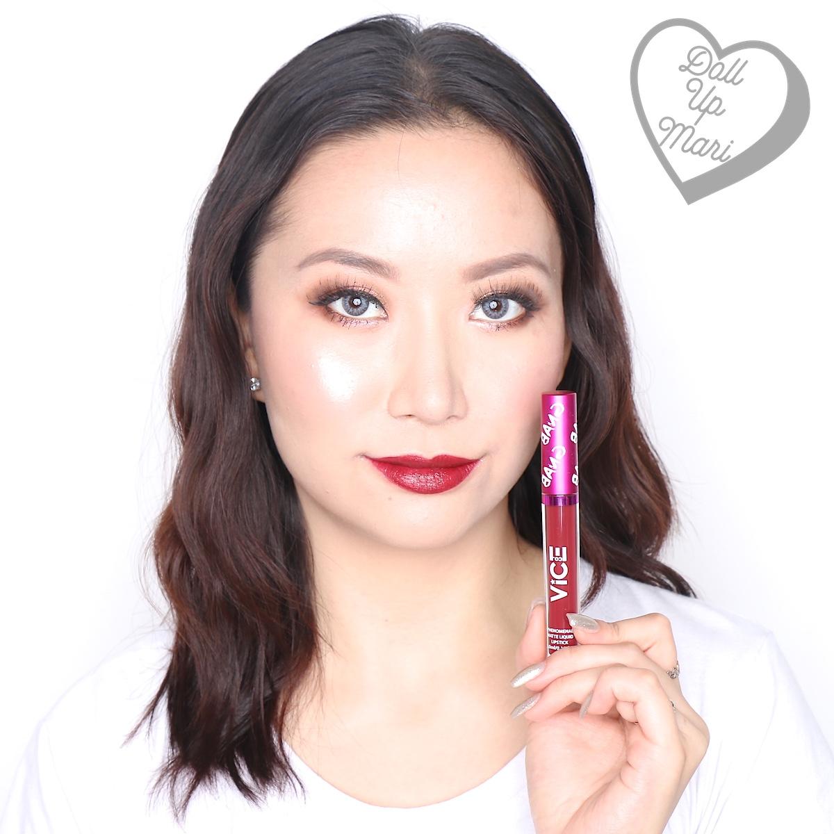Mari wearing the Matte Liquid Lipstick of the Fashown set of Vice X Bang Lip set collection