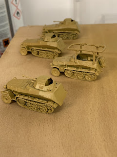 Some half tracks – yes, I actually did some modelling today…