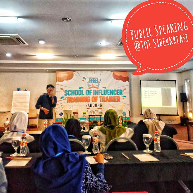 School of Influencer 2018, Kelas Public Speaking