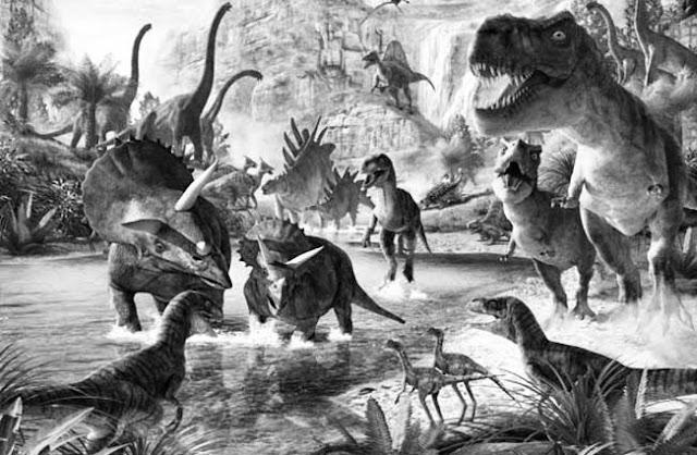 Gambar hewan yang hidup pada zaman prasejarah