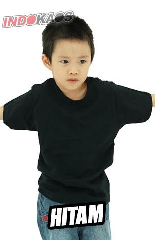 Kaos Polos Anak Hitam