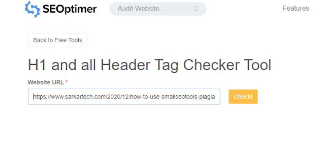 seoptimer h1 tag checker
