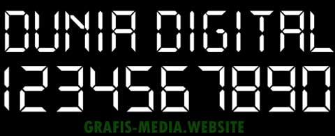 10 Font Gratis Untuk Jam Digital Amp Kalkulator Digital