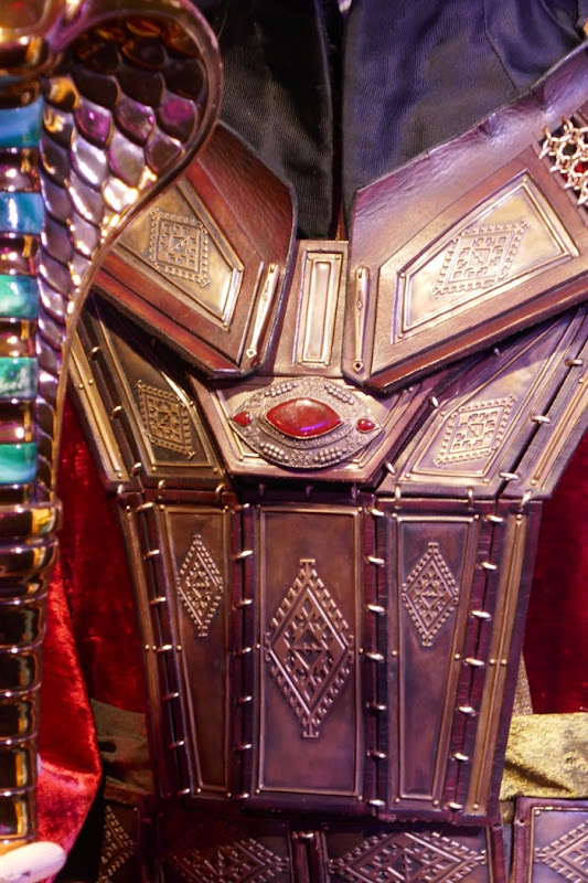 Aladdin Jafar film costume chestplate detail