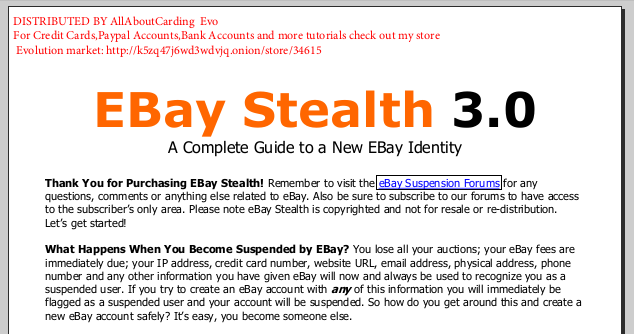 Ebook Tutorial Carding/Phising/Scam For newbie step by step and