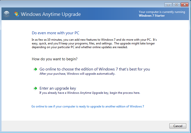 free download windows anytime upgrade key for windows 7
