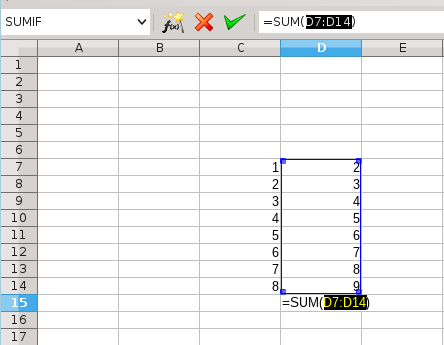 SUM, AutoSum and some other secrets of LibreOffice Calc