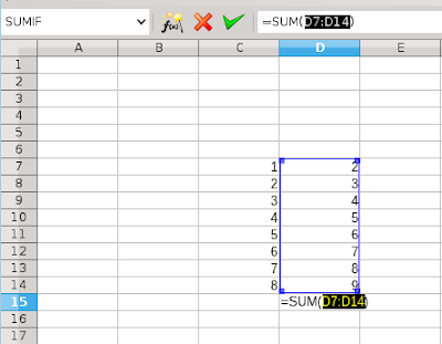 SUM, AutoSum and some other secrets LibreOffice Calc