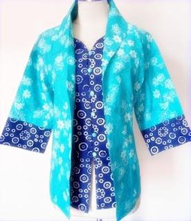 Model Baju Batik Kantor Motif Batik