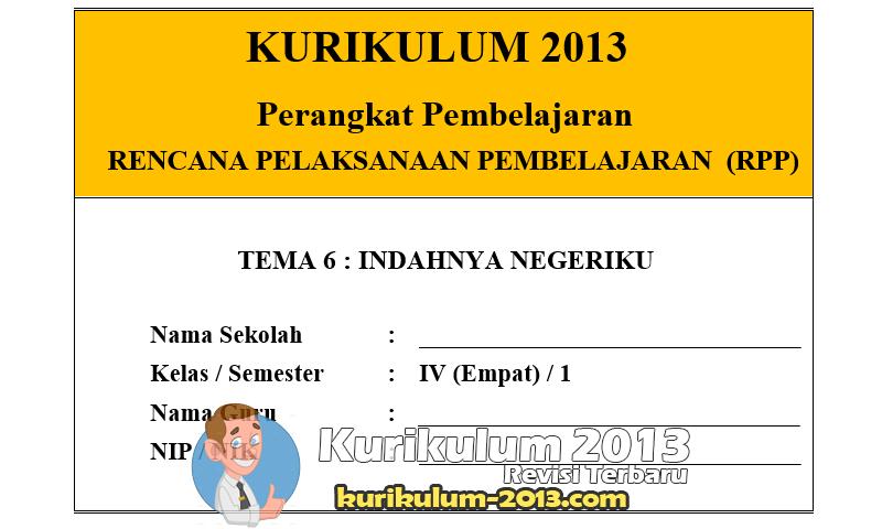 RPP Kelas 4 Semester 2 Kurikulum 2013 Revisi Tahun 2016