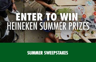 Heineken USA wants everyone to make the most of their summer by giving them a chance to enter daily to win Heineken summer prizes like Weber grills!