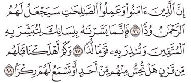 Tafsir Surat Maryam Ayat 96, 97, 98