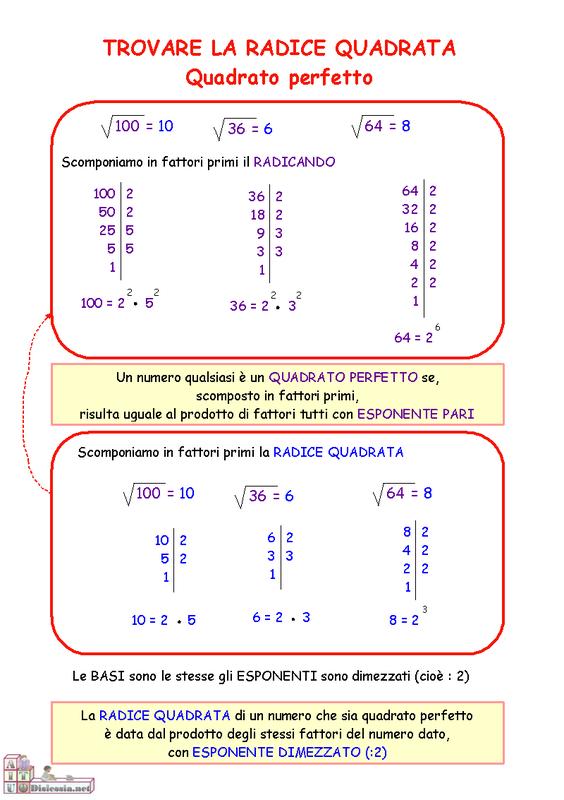 La breda in rete 2a radici quadrate 1 - Tavole numeriche radici quadrate da 1 a 10000 ...