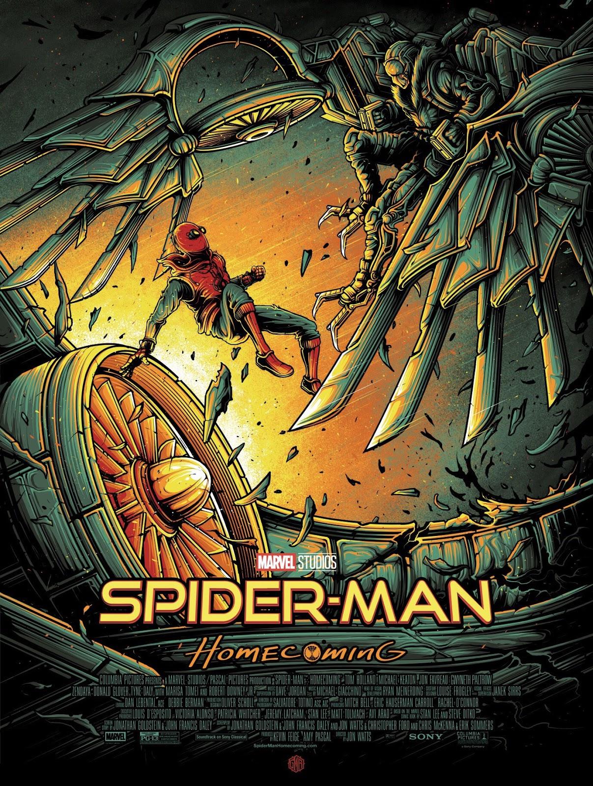 Inside The Rock Poster Frame Blog Dan Mumford Spider Man