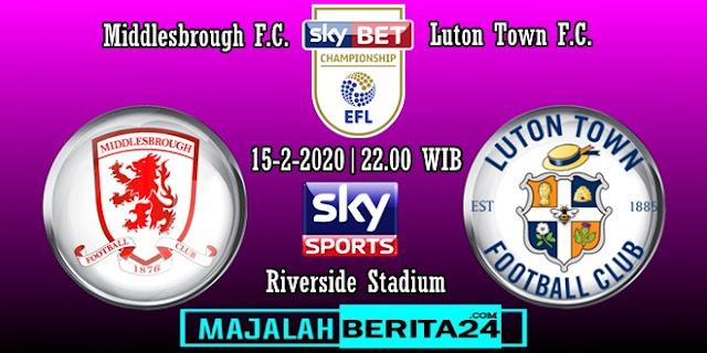 Prediksi Middlesbrough vs Luton Town