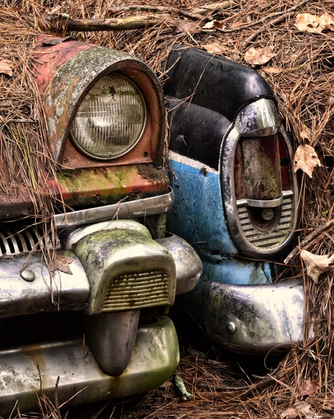 Abandoned Rusted Old Cars