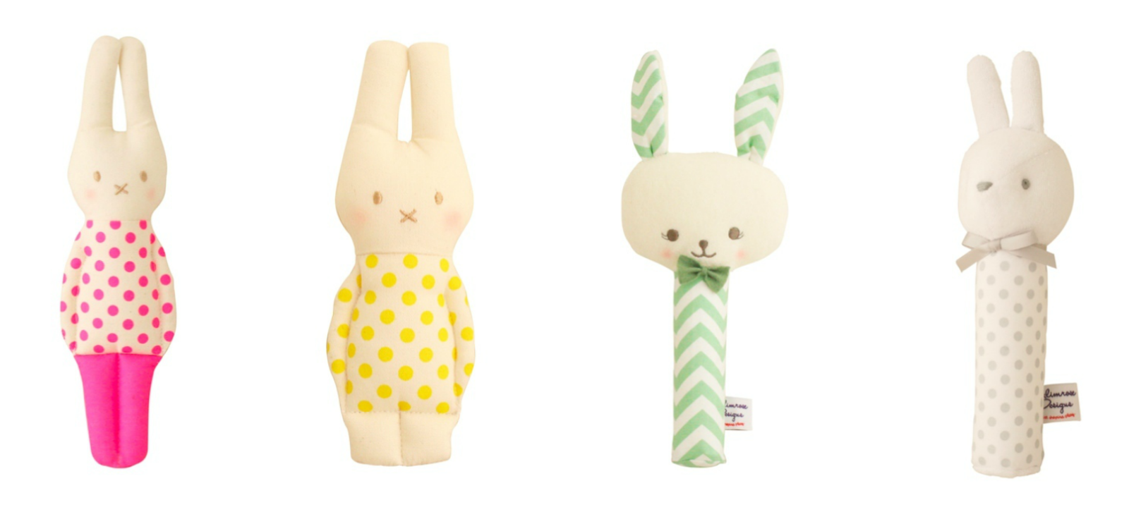 alimrose designs bunny rattles