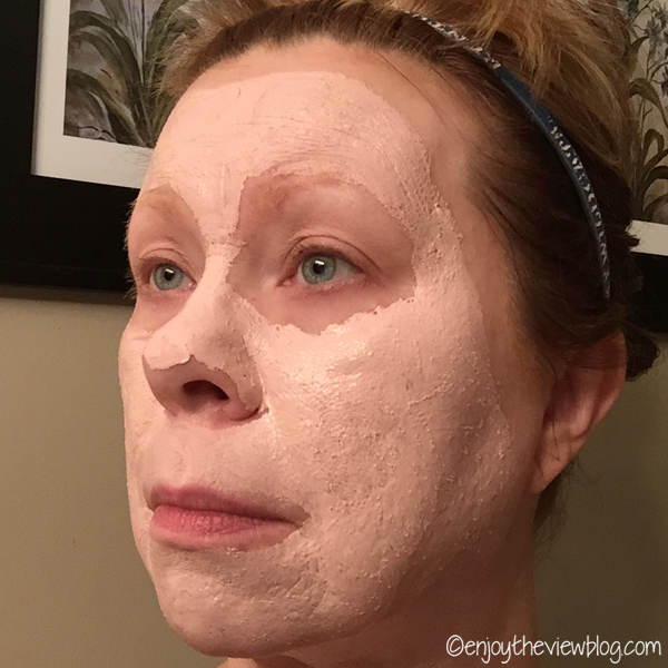 woman wearing clay face mask