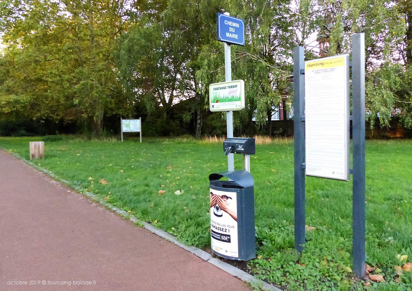 Corbeilles canines Tourcoing - Parc de l'Yser.