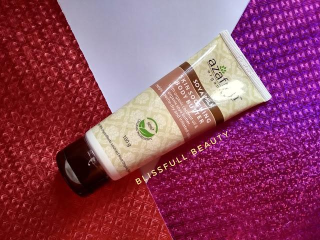 Azafran organics soya milk skin-soothing body butter review