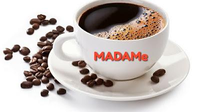 Susu drop Ibu menyusu minum kopi