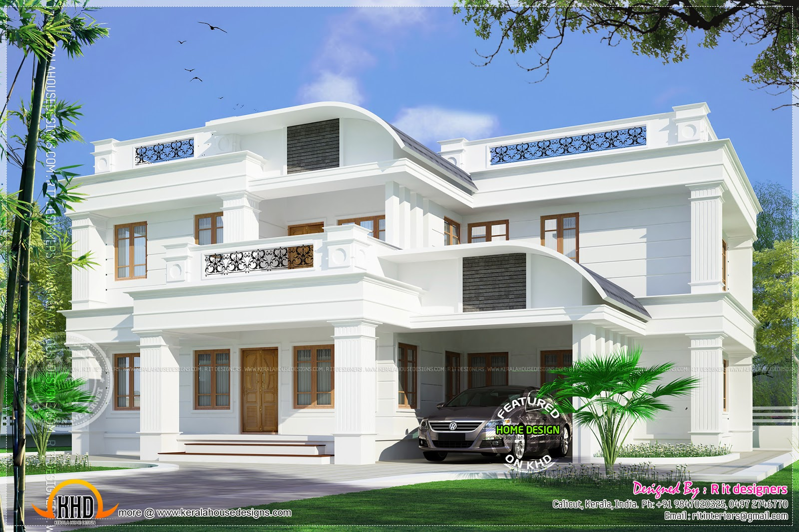 Residence at kannur kerala kerala home design and floor for Big house images in india