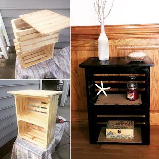 Ideas de muebles hechos con con cajas y cajones de madera recicladas