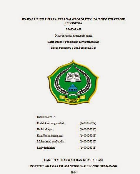 Bil Qolamy Makalah Wawasan Nusantara Sebagai Geopolitik Dan Geostrategik Indonesia