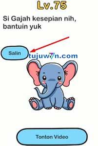 brain out : si gajah kesepian nih bantuin yuk