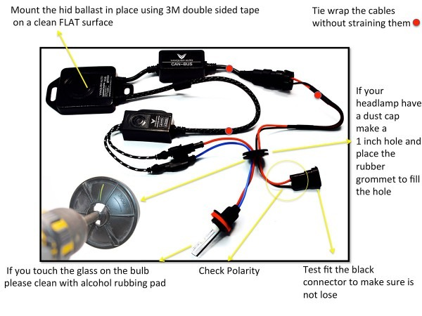 hid kit installation instructions with image guide  free