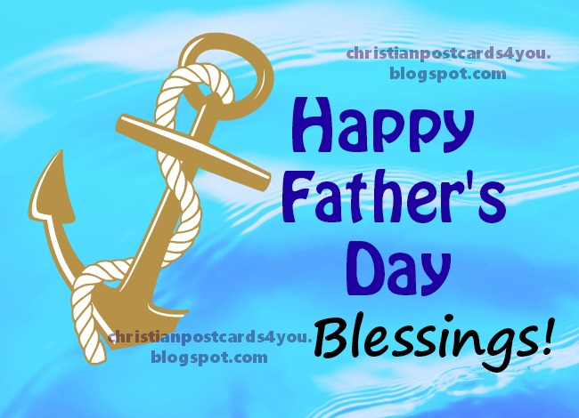 Happy Father's Day 3 Free Images with Christian quotes by Mery Bracho.  Psalm 1.