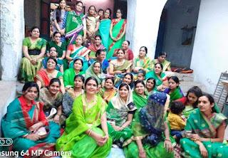 ब्राहमण समाज की महिला मंडल ने मनाया हल्दी कुमकुम कार्यक्रम